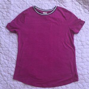 PINK Victoria's Secret Tops - NWOT VS PINK Magenta t-shirt with black trim